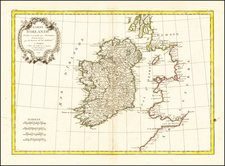 Carte D'Irlande . . . 1771 By Jean Lattre