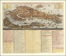 Venice Map By Henri Chatelain