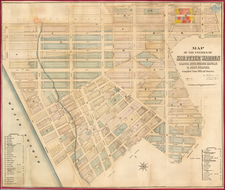 New York City Map By John Bute Holmes