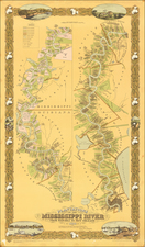 South and Louisiana Map By Joseph Aiena