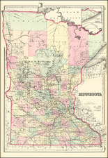 Minnesota Map By O.W. Gray