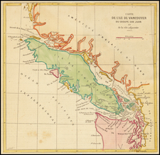 Washington and Canada Map By Anonymous