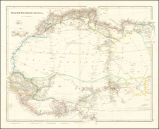 North Africa and West Africa Map By John Arrowsmith