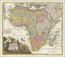 Africa Map By Matthaus Seutter