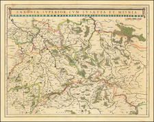 Germany and Poland Map By Willem Janszoon Blaeu