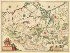 Germany Map By Willem Janszoon Blaeu