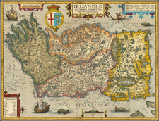 British Isles, Ireland and Balearic Islands Map By Abraham Ortelius / Johannes Baptista Vrients