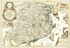 China and Korea Map By Vincenzo Maria Coronelli