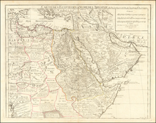 Middle East, Arabian Peninsula, Egypt and North Africa Map By Guillaume De L'Isle
