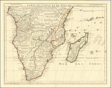 South Africa, East Africa and African Islands, including Madagascar Map By Guillaume De L'Isle