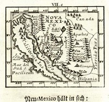 Southwest, Mexico, Baja California and California Map By Johann Ulrich Muller