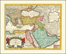 Turkey, Middle East and Turkey & Asia Minor Map By Christopher Weigel