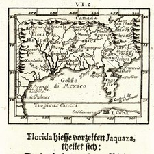 Mid-Atlantic, South and Southeast Map By Johann Ulrich Muller