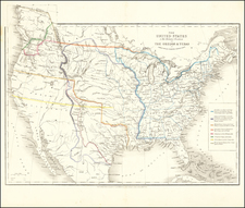 United States and Texas Map By James Wyld