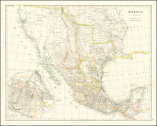 Texas, Southwest, Rocky Mountains, Mexico and California Map By John Arrowsmith