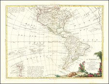 Pacific Ocean, Pacific, Oceania, New Zealand and America Map By Antonio Zatta