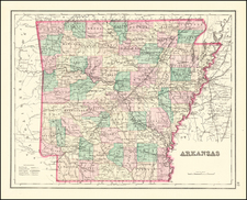 Arkansas Map By O.W. Gray