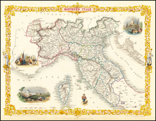 Northern Italy Map By John Tallis