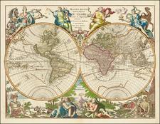 Mappe Monde ou Description Du Globe Terrestre & Aquatique…MDCCXCII   By Jan Barend Elwe