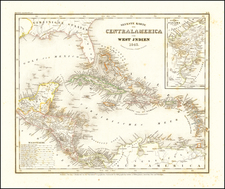 Southeast, Caribbean and Central America Map By Joseph Meyer