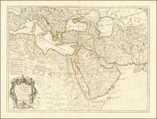 Turkey, Mediterranean, Central Asia & Caucasus, Middle East and Turkey & Asia Minor Map By Guillaume De L'Isle