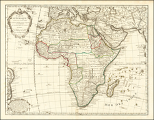 Africa Map By Guillaume De L'Isle