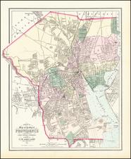 Rhode Island Map By O.W. Gray