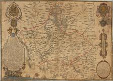 Spain Map By Felipe Vidal y Pinilla