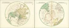 Northern Hemisphere and Polar Maps Map By Sigismund  Ehrenreich Redern