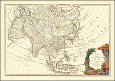 Asia Map By Jean Janvier