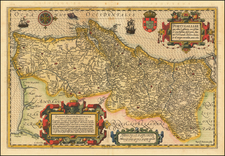 Portugal Map By Jodocus Hondius