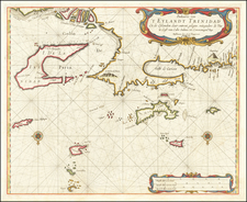 Other Islands and Venezuela Map By Arent Roggeveen / Jacobus Robijn