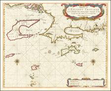 Other Islands and Venezuela Map By Arent Roggeveen / Jacobus Robijn