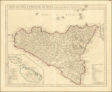 Malta and Sicily Map By Guillaume De L'Isle