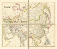 Asia Map By Daniel Lizars