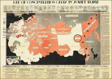 Russia, Pictorial Maps and Russia in Asia Map By Sylwester Starzewski  &  Kazimierz Zamorski