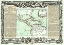 Southeast, Caribbean, Central America and South America Map By Louis Brion de la Tour