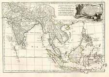 Asia, India, Southeast Asia, Philippines, Australia & Oceania and Oceania Map By Jean Janvier