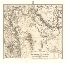 Southwest, Arizona and Nevada Map By George M. Wheeler