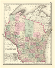 Wisconsin Map By O.W. Gray