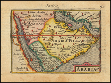 Middle East and Arabian Peninsula Map By Petrus Bertius / Barent Langenes