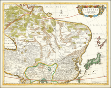 China, Central Asia & Caucasus and Russia in Asia Map By Frederick De Wit