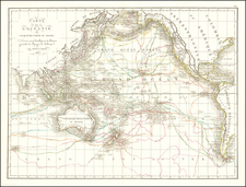 Pacific Ocean, Pacific, Oceania, Hawaii and Other Pacific Islands Map By Pierre Antoine Tardieu