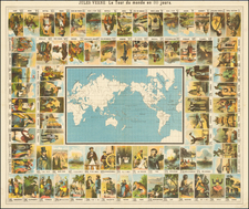 World and Pictorial Maps Map By Anonymous / Jules Verne