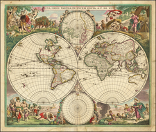 World and World Map By Frederick De Wit