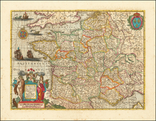 France Map By Henricus Hondius