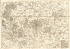 France and Paris Map By J. Andriveau-Goujon / J Goujon
