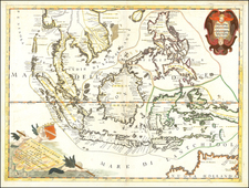 Southeast Asia and Philippines Map By Vincenzo Maria Coronelli