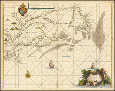 New England and Canada Map By John Seller