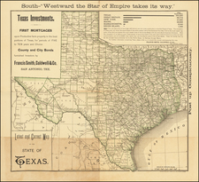 Texas Map By Francis Smith, Caldwell & Co.
